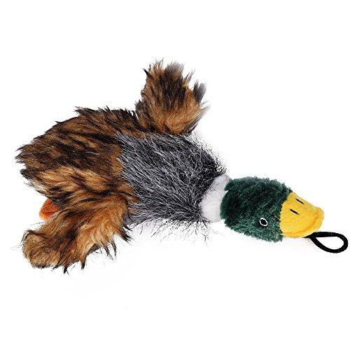 owikar Puppy Hund kauen Spielzeug Plüsch Hunde Quietschen Toys Mallard Duck Spielzeug für Hund Funny Sound hupenden Stofftiere für kleine mittelgroße Hunde (Zauberstab Billig Massagegerät)
