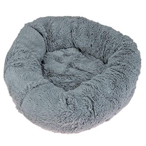 vanpower Haustierbett aus Plüsch, rund, Donut-Schlafhaus-Kissen, Nistmatte, für Katzen, Welpen, kleine und mittelgroße Hunde -