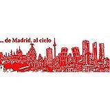 Vinilo Decorativo De Madrid al cielo. S. (93x30cm. aprox) color rojo.