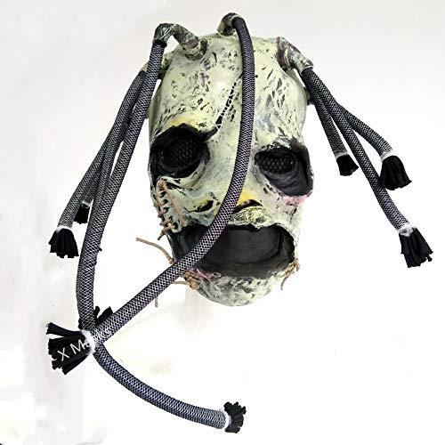 Corey Taylor Kostüm Slipknot - VAWAA Corey Taylor Masken Dj Star Cosplay Halloween Kostüm Prop Für Erwachsene Slipknot Maske Zubehör Mascara Hut Spielzeug Mann