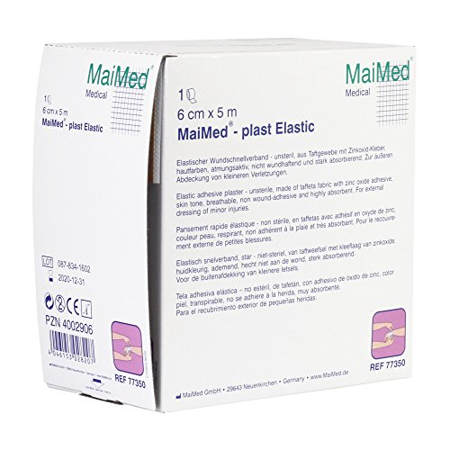 MaiMed®-plast Elastic elastischer Wundschnellverband in 3 Größen , Größen:6 cm x 5 m - Elastic-kleber