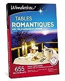 Wonderbox – Coffret cadeau couple TABLES ROMANTIQUES – 655 restaurants renommés, labellisés, dîner-croisières, assiettes gastronomiques pour 2 personnes