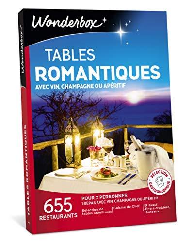 Wonderbox - Coffret cadeau noël - TABLES ROMANTIQUES - 655 restaurants renommés, labellisés,...
