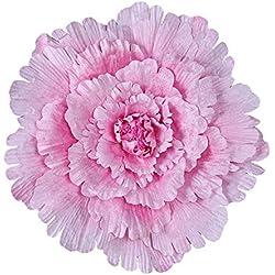 WULIHONG-Flor artificial40 / 50/60 / 80cm Grandes Flores Artificiales Fondo de Boda de peonía Flor Decorativa Ramas Flores de Seda Pared para decoración de hogar 60 cm Rosa