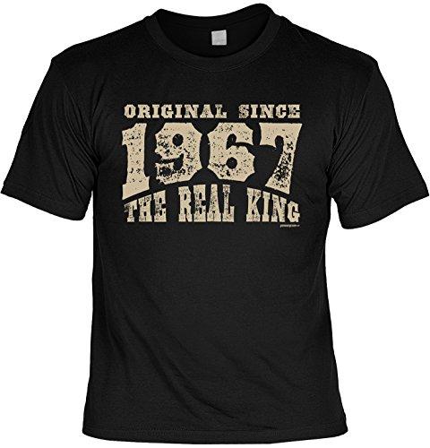 T-Shirt zum 50. Geburtstag Original Since 1967 the real king Geschenk zum 50 Geburtstag 50 Jahre Geburtstagsgeschenk 50-jähriger Schwarz