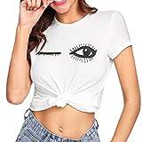 Vectry Design Damen Pulli Langarm T-Shirt Rundhals Ausschnitt Lose Bluse Hemd Pullover Oversize Sweatshirt Oberteil Tops