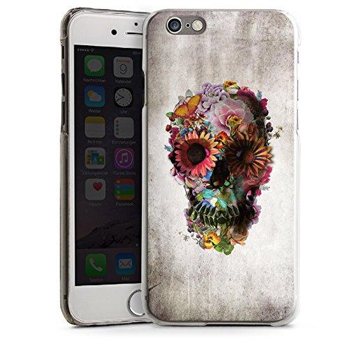 Apple iPhone 5s Housse Outdoor Étui militaire Coque Tête de mort Crâne Fleurs CasDur transparent