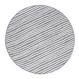 Andiamo Webteppich Bolognia Streifen-Muster Runder-Teppich Modern Polypropylen Öko-Tex 100, Grau-Streifen, 133 cm rund