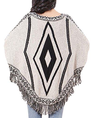 Jollychic - Sweat-shirt - Style classique - Femme Gris - Gris clair