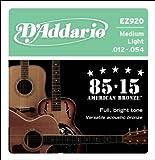 D'Addario EZ920 85/15 Bronze Medium Light Acoustic Guitar String