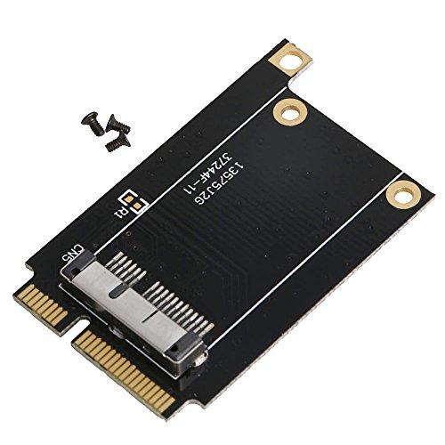 JunYe Express Adapterkarte PieceI-E Mini PieceI für Apple BCM94360CD BCM94331CM Tablet, Schwarz -