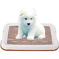 GreeSuit Animal-WC inodoro perros bandeja sostenedor del cojín de malla del entrenamiento de la malla de la bandeja del retrete para el entrenamiento del orinal (Naranja)