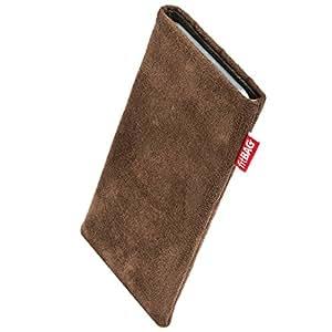fitBAG Country Braun Handytasche Tasche aus Wildlederimitat mit Microfaserinnenfutter für HTC One Mini (M4)