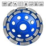 S&R Muela a Taza Diamante 125x22,2 mm / Disco Diamante/ para Hormigón, Piedra Natural, Ladrillo, de 2 filas estuco