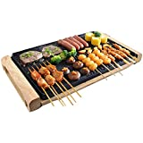 Electric Barbecue Grill Aluminium Portable Adjustable Temperature 2000W With Double Handles