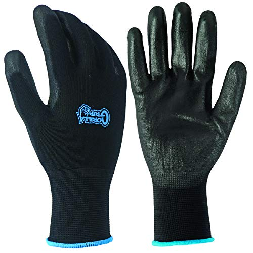 Fett Affen 25053-26Großer Gorilla Grip Handschuhe-Schwarz