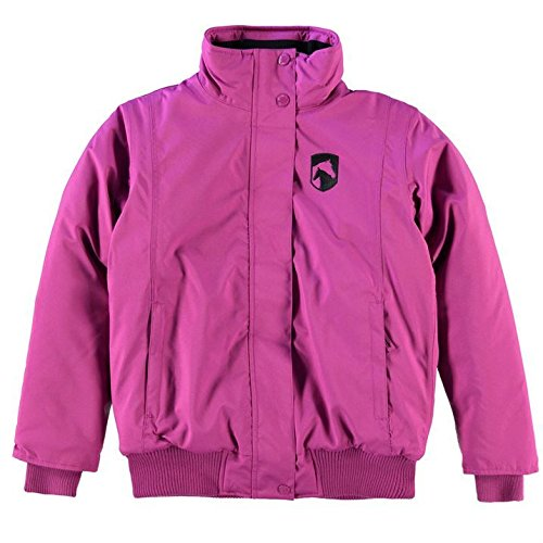 Requisite Kids Blouson Jacket Junior Girls Padded Ribbed Full Zip Equestrian Top