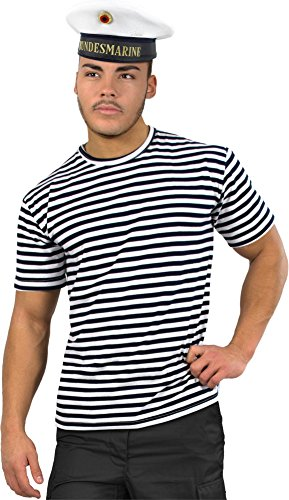 normani Marinekostüm, bestehend aus Marine Shirt und Bundesmarine Mütze Größe M