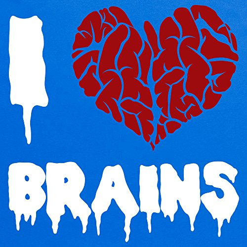 I Heart Brains T-Shirt, Herren Royalblau