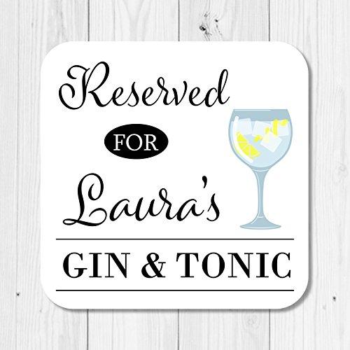 Posavasos de madera, para gin tonic, personalizable