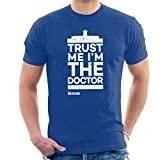 Doctor Who Trust Me Im The Doctor White Text Men's T-Shirt