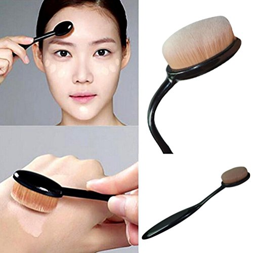 Maquillage Cosmetic Pro Face Powder Blusher Toothbrush Curve Foundation Brush flexible Fulltime®