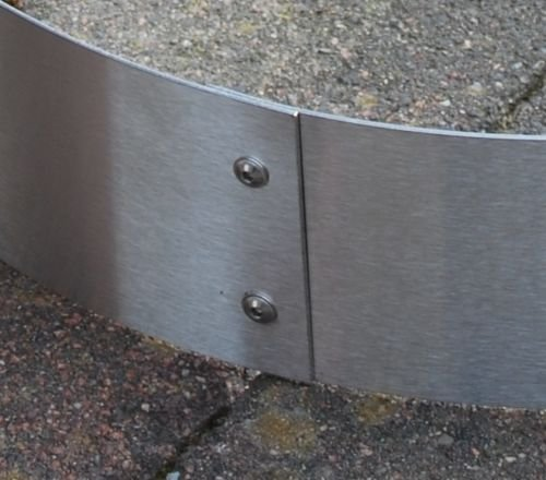 Beeteinfassung Baumeinfassung aus Edelstahl 100 mm hoch – 1,5 mm stark