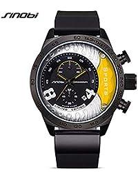 Hermosa Watches Sinobi / 9690 Hombres Reloj de Cuarzo Movimiento japonés de Moda de Color Dial