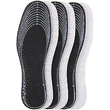 3 Paar Set Aktivkohle Sohle Natur Latex zum Zuschneiden gegen Fußgeruch Gr. 36-46 z2029