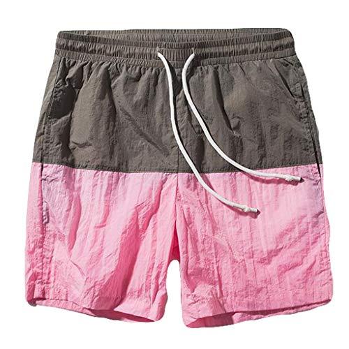saymany Uomo Pantaloncini Drawstring Fast-Asciugatur Shorts Pantaloni Casual Sport Pantaloni Corti Bermuda da Uomo