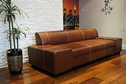 Super Lange Echtleder 3 Sitzer Sofa
