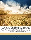 Tafeln Zur Bestimmung Des Inhaltes Der Runden Hölzer, Der Klafterhölzer Und Des Reisigs, So Wie Zur Berechnung Der Nutz- Und Bauholz-Preise