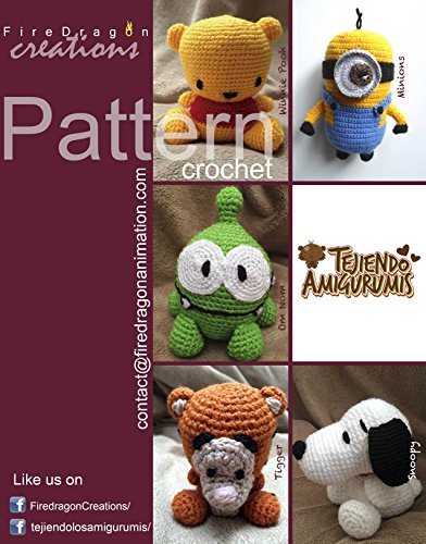 Magic Hands Pattern Collection V.1: Pooh, Tigger, Om Nom, Minion and Snoopy (English Edition)