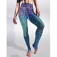 Pantalones de Yoga para Mujeres Cintura Alta Cinturas Delgadas - Hermosa Sirena en Color Degradado Sudor Transpirable Pantalones de chándal - Otoño e Invierno,L