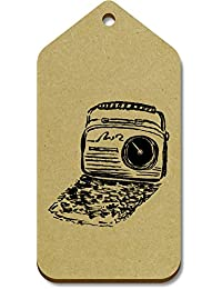 10 x Large 'Retro Radio' Wooden Gift / Luggage Tags (TG00017480)