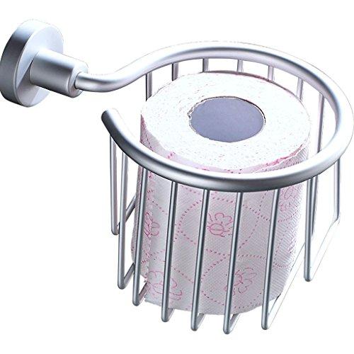 H&Y HY Toilettenpapierhalter Badezimmer Papierhandtuchhalter Handschale Silber Punch-Free-Rollenhalter