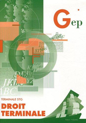 Droit Tle STG pochette n°419