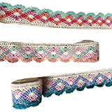 Outgeek 3PCS Lace Trims Decorative Cotton DIY Craft Lace Ribbons Lace Trim Ribbons