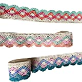 #5: Outgeek 3PCS Lace Trims Decorative Cotton DIY Craft Lace Ribbons Lace Trim Ribbons