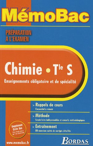 MEMOBAC CHIMIE TERM S (Ancienne Edition)