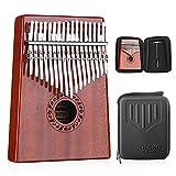 GECKO Kalimba 17 Tasten Thumb Piano baut EVA-Hochleistungsschutzbox, Stimmhammer und Lernanleitung ein.