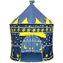 ZHANGP Tenda da biliardo coperta per bambini, casa tenda da gioco, piscina, casa per bambini , Blue