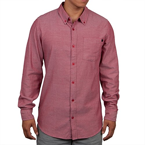 O'Neill - - Herren Langarm-Kepler Woven, X-Large, Red (Oneill-shirt Woven)