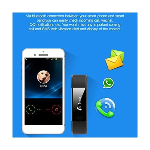ID 115HR Plus Smart Wristband Sports Heart Rate Smart Band Fitness Tracker (Negro) 8