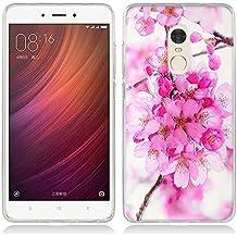 Funda Xiaomi Redmi Note 4 - Fubaoda - 3D Realzar, Hermosa flor Patrón, Gel de Silicona TPU, Fina, Flexible, Resistente a los arañazos en su parte trasera, Amortigua los golpes, funda protectora anti-golpes para Xiaomi Redmi Note 4