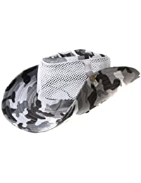 Accessoryo - Armée De Camouflage Impression Maillé Chapeau De Style Safari Avec La Longueur Bascule Réglable Disponible Dans Un Choix De Couleurs