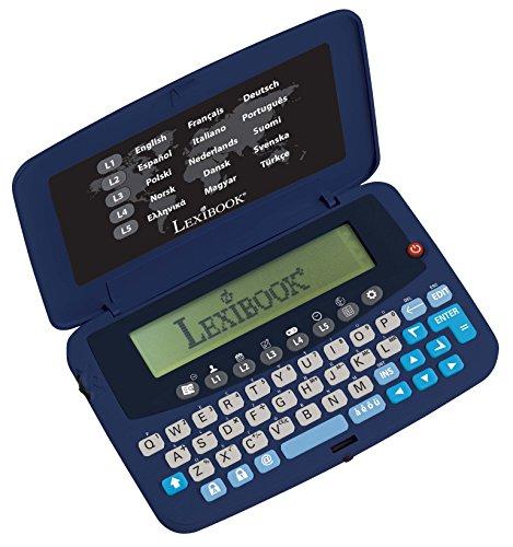 Lexibook Ubersetzer in 15 Sprachen, integrierter Euro-Konverter, Batterien, Lila/Schwarz, NTL1570 - Deutsch Englisch E übersetzer