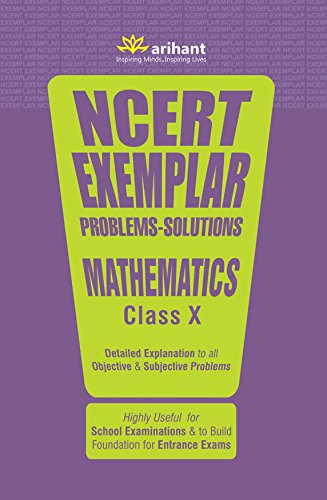 CBSE NCERT Exemplar Problems-Solutions Mathematics class 10  for 2018 – 19 515mei2bkfL