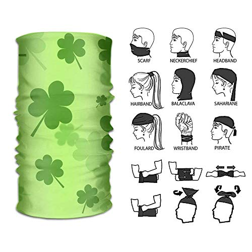 Qinckon Headband St Patricks Shamrock Outdoor Multifunctional Kopfbedeckung 16 Ways to Wear Your Magic Kopfbedeckung Scarf Ariat Riding Wear