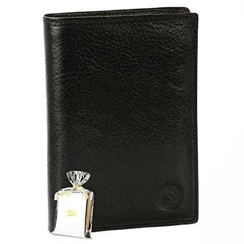 Great CLASSIQUE Wallet Black leather N1328 - great Man Wallet PACK gift Noël, une party, un anniversary